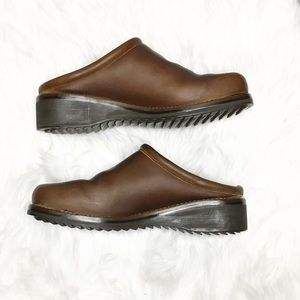 Cole Haan Brown Leather Mule Clog